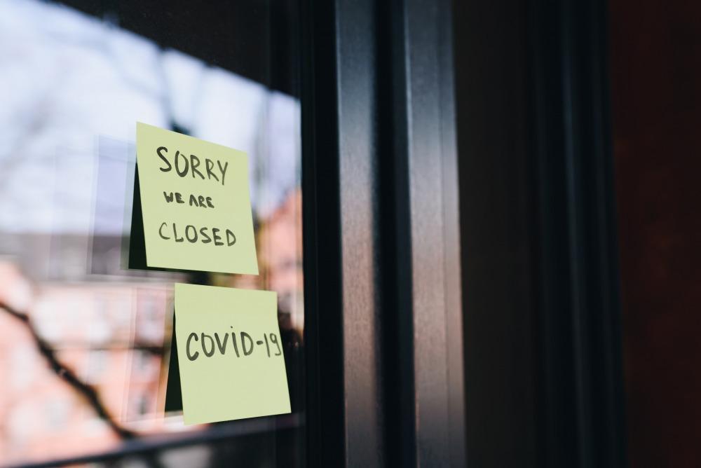 Local business closed during the coronavirus covid-19 quarantine